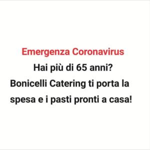 covid19 emergenza sanitaria Bonicelli porta spesa e pasti caldi a casa